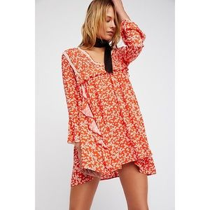 NWT Free People Paprika Combo Dress